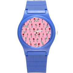 Hotline Bling Pattern Round Plastic Sport Watch (s)