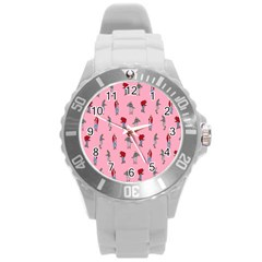 Hotline Bling Pattern Round Plastic Sport Watch (l) by Samandel