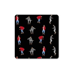 Hotline Bling Black Background Square Magnet