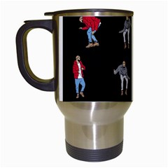 Hotline Bling Black Background Travel Mugs (white) by Samandel