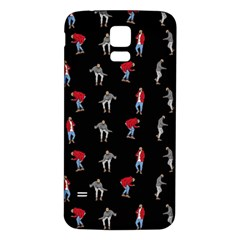 Hotline Bling Black Background Samsung Galaxy S5 Back Case (white) by Samandel