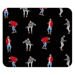 Hotline Bling Black Background Double Sided Flano Blanket (small)  by Samandel