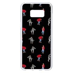 Hotline Bling Black Background Samsung Galaxy S8 Plus White Seamless Case by Samandel