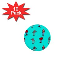 Hotline Bling Blue Background 1  Mini Buttons (10 Pack)