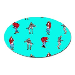 Hotline Bling Blue Background Oval Magnet