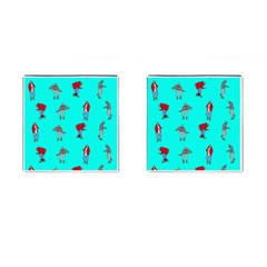 Hotline Bling Blue Background Cufflinks (square)