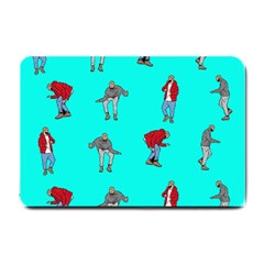 Hotline Bling Blue Background Small Doormat  by Samandel