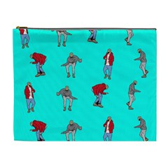 Hotline Bling Blue Background Cosmetic Bag (xl)