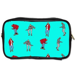Hotline Bling Blue Background Toiletries Bags by Samandel