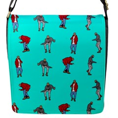 Hotline Bling Blue Background Flap Messenger Bag (s) by Samandel