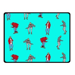 Hotline Bling Blue Background Double Sided Fleece Blanket (small)  by Samandel