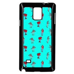 Hotline Bling Blue Background Samsung Galaxy Note 4 Case (black) by Samandel