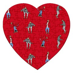 Hotline Bling Red Background Jigsaw Puzzle (heart) by Samandel