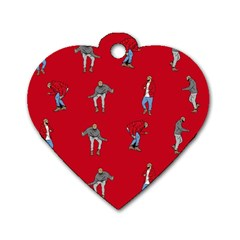 Hotline Bling Red Background Dog Tag Heart (two Sides) by Samandel