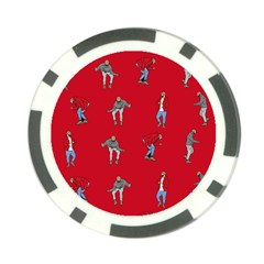 Hotline Bling Red Background Poker Chip Card Guard by Samandel
