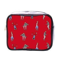 Hotline Bling Red Background Mini Toiletries Bags by Samandel