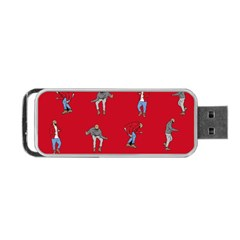 Hotline Bling Red Background Portable Usb Flash (two Sides)