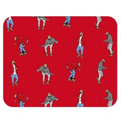 Hotline Bling Red Background Double Sided Flano Blanket (medium)  by Samandel