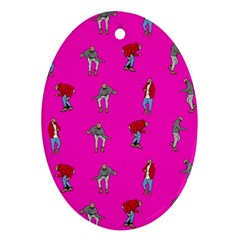 Hotline Bling Pink Background Ornament (oval)