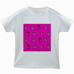 Hotline Bling Pink Background Kids White T Shirts