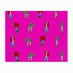 Hotline Bling Pink Background Small Glasses Cloth (2 Side) by Samandel