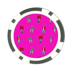 Hotline Bling Pink Background Poker Chip Card Guard