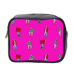 Hotline Bling Pink Background Mini Toiletries Bag 2 Side