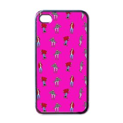 Hotline Bling Pink Background Apple Iphone 4 Case (black) by Samandel