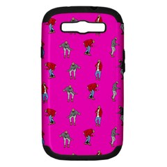 Hotline Bling Pink Background Samsung Galaxy S Iii Hardshell Case (pc+silicone)