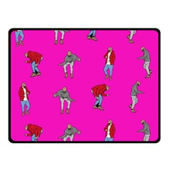 Hotline Bling Pink Background Double Sided Fleece Blanket (small)