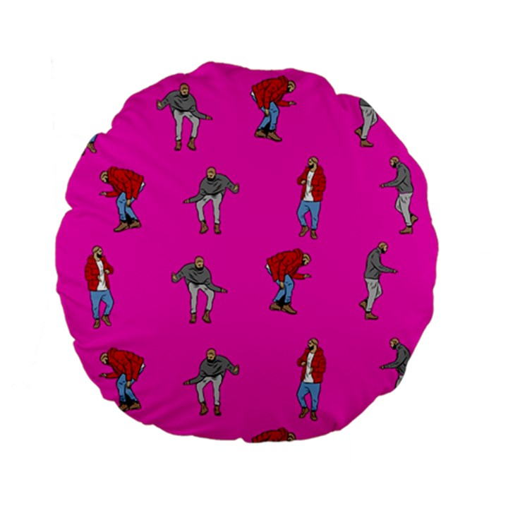 Hotline Bling Pink Background Standard 15  Premium Flano Round Cushions
