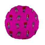 Hotline Bling Pink Background Standard 15  Premium Flano Round Cushions Back