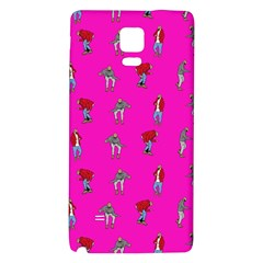 Hotline Bling Pink Background Galaxy Note 4 Back Case by Samandel