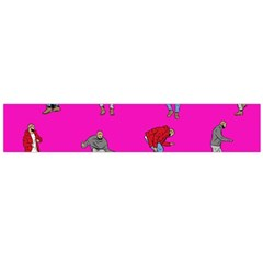 Hotline Bling Pink Background Large Flano Scarf  by Samandel