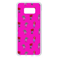 Hotline Bling Pink Background Samsung Galaxy S8 Plus White Seamless Case by Samandel