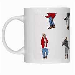 Hotline Bling White Background White Mugs by Samandel