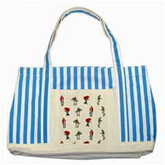 Hotline Bling White Background Striped Blue Tote Bag