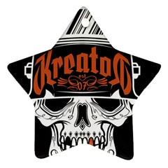Kreator Thrash Metal Heavy Hard Rock Skull Skulls Star Ornament (two Sides) by Samandel