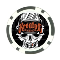 Kreator Thrash Metal Heavy Hard Rock Skull Skulls Poker Chip Card Guard by Samandel