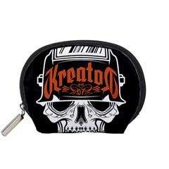 Kreator Thrash Metal Heavy Hard Rock Skull Skulls Accessory Pouches (small)  by Samandel