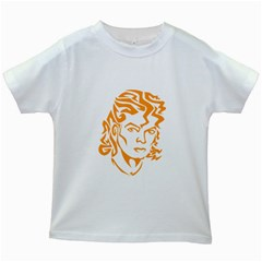 The King Of Pop Kids White T Shirts