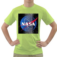 Nasa Logo Green T Shirt by Samandel