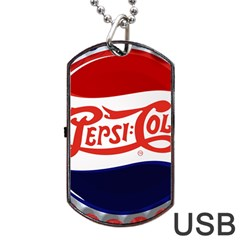 Pepsi Cola Cap Dog Tag Usb Flash (one Side)
