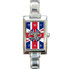 Punk Not Dead Music Rock Uk United Kingdom Flag Rectangle Italian Charm Watch