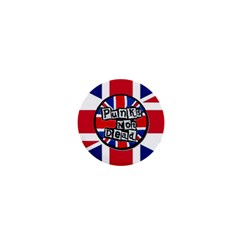 Punk Not Dead Music Rock Uk United Kingdom Flag 1  Mini Buttons