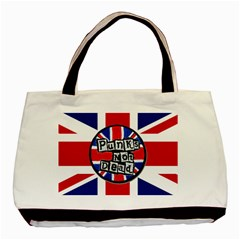 Punk Not Dead Music Rock Uk United Kingdom Flag Basic Tote Bag