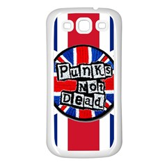 Punk Not Dead Music Rock Uk United Kingdom Flag Samsung Galaxy S3 Back Case (white)