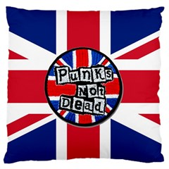 Punk Not Dead Music Rock Uk United Kingdom Flag Standard Flano Cushion Case (one Side)