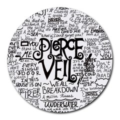 Pierce The Veil Music Band Group Fabric Art Cloth Poster Round Mousepads by Samandel