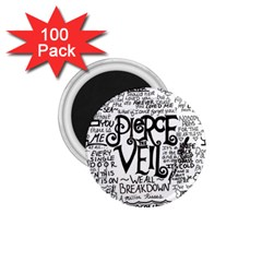 Pierce The Veil Music Band Group Fabric Art Cloth Poster 1 75  Magnets (100 Pack)  by Samandel